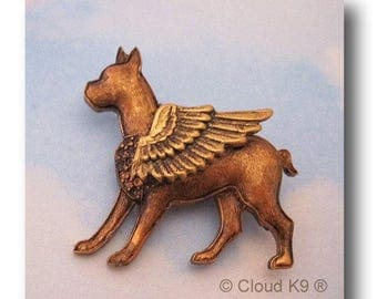 Boxer Dog GUARDIAN ANGEL PIN Boxer Dog Gifts. Jewelry for Dog Lovers by CloudK9 Pet Loss Gifts/ Pet Remembrance / Pet Memorial Sympathy Gift
