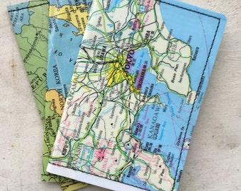 Slim Wallet- Vintage Maps of Japan- Choose 1