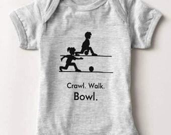 Bowling Baby Bodysuit Infant Newborn Boy Girl Shower Gift