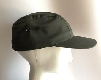 Lee Permanent Press Baseball Hat Cap Size 7 1/4 Conductor Hat Ski Cap Medium Army Green New Old Stock Deadstock