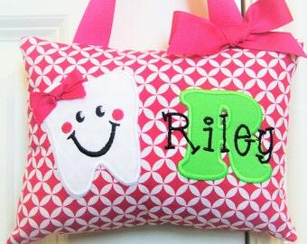 Tooth Fairy Pillow - Hot Pink Diamonds