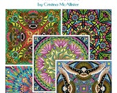 Mandala Carnival Print Pack #1, 12 Coloring Pages, Adult Coloring Book, Digital Coloring Pages, Printable Coloring Pages