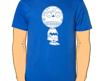 Charlie Brown Calavera Men's T-Shirt Small, Medium, Large, X-Large in 6 Colors