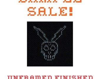 Sample Sale! Frank the Rabbit - Donnie Darko - Unframed Cross Stitch