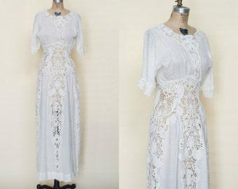 Edwardian Wedding Dress --- Antique Wedding Gown