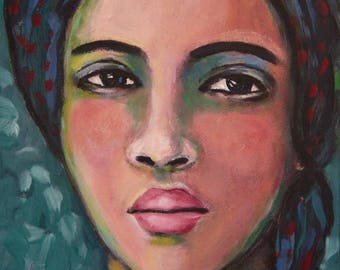 Ayana - Original 5 x 7 inch Portrait Painting