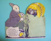 This Listing is RESERVED -Antique Rosen Bunny Pops Easter Candy Display Piece Rabbit and Chick
