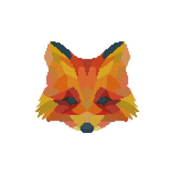 Modern cross stitch pattern geometric animal