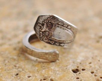 Spoon Ring, Coffee Spoon, Demitasse Spoon, 1847 Rogers Bros., Adjustable Size, Recycled Silverware, Eco Friendly, Jewelry by Hendywood RE23