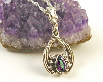 Mystic Topaz and Sterling Silver Pendant