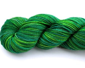 Karma Chameleon--hand dyed sock yarn, Yak, Merino and Nylon, (437yds/100gm)