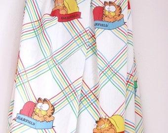 Vintage Garfield twin flat sheet eighties characters