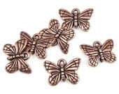 Antique Copper Charms Copper Butterfly Charms TierraCast MONARCH Charms Monarch Butterfly Insect Bug Double-Sided Jewelry Charms Summer P552
