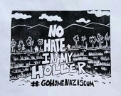 No Hate in My Holler T-SHIRT Made to Order
