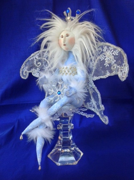 Collectible Winter Wonderland Handmade Fairy Art Doll