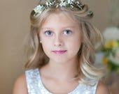 first communion hair accessories, white flower crowns for girls, first communion headpiece, flower girl crown, holy communion crown