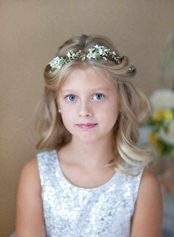 Girl First Birthday Outfit Pinterest: First Communion Flower Crown First Communion Headpiece White