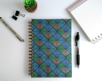 Grid Journal – Bullet Journal – Grid Notebook – Hard Cover Journal – Writing Journal – Paper Anniversary Gift – Spiral Notebook