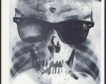 Hipster Skull - 60's vintage book page