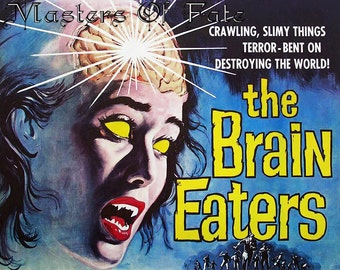 REMASTERED Vintage Movie Print the Brain Eaters Classic Zombie (with or without Frame) Various Sizes