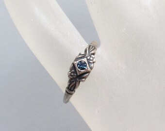 Vintage Sterling Ring Uncas Pinky Child Jewelry R7701