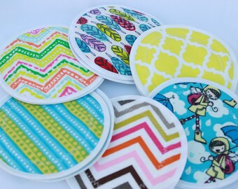 Nursing  Pads, reusable nursing pad, waterproof breast pads, PUL, flannel, zorb, washable,  6 pairs