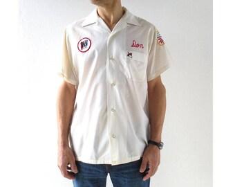 1970s Bowling Shirt   Hilton   Men's Bowling Shirt   Medium M