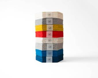 Felt Hexagon Coaster - 100% Wool Felt, Set of Four or Set of Two
