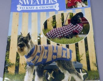 Dog Sweaters to Knit and Crochet - DIY Book By Leisure Arts and Carol Carvalho - #934 - All Sizes of Dog - Gift Idea - Lovely Designs