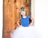 Diamond White - Flower Girl Tulle Skirt in White - Sewn long length tutu skirt - choose your size and length - weddings - portraits