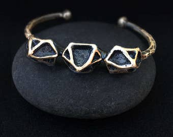 Bronze Stud Point Cuff, Handmade by Jamie Spinello in Austin, Tx