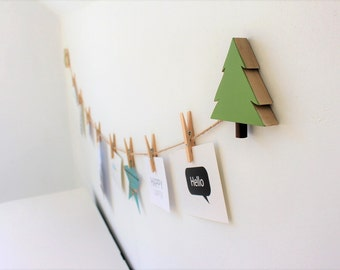 Tree Art Display Line, Tree Picture line, Woodland Kids Decor, Wilderness, Nature, Baby Nursery, Woodland Nursery, Evergreen, Pine tree
