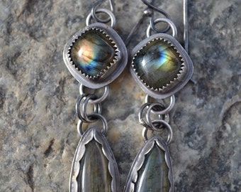 Labradorite Earring Sterling Silver Ready to Ship