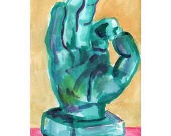 original artwork OK hand gouache on paper