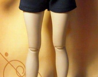 Navy blue high waisted shorts for slim MSD dollfie, minifee, 1/4 bjd DOLL