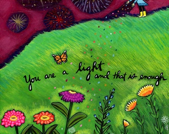 Print on Wood 8x10 : You Are a Light