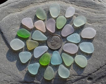 Genuine Sea Glass Jewelry Supply Beach Glass Small Pendants Charms Mixed Colors