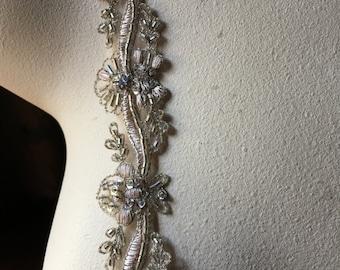 "Blush Beaded Trim 12"" for Lyrical Dance, Ballet, Bridal, Headbands, TR 271bl"