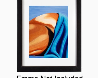 Fine Art Figurative Sensual, Sexy Female Figure, Torso Poster Print - Amore 16 x 20, Home Decor, Bedroom Art