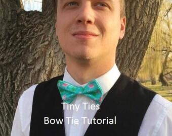 Digital Download Bow Tie Tutorial - Little Boy Bow Tie PDF Tutorial - Bow Tie How To - Bow Tie Pattern - Bow Tie Sewing Pattern -Tie Pattern