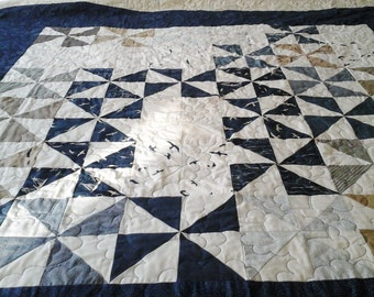 Quilt Seagulls and pinwheels