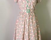 Sample Sale 1950s day tea dress/button front/shirtwaist