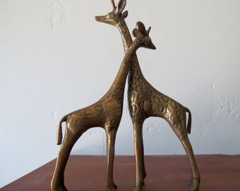 Brass Giraffe Pair