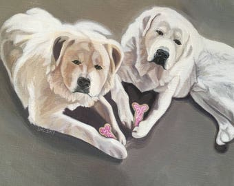 """5 x 7 dog Greeting Card """"Treats for the Sweet!"""""""