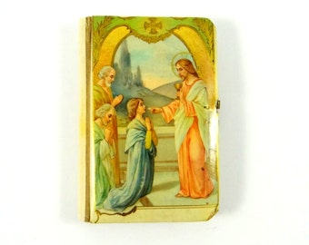 Antique Celluloid Prayer Book For Children from 1925