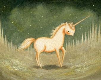 Baby Pink Unicorn Print 10x8 - Children's Art, Baby Art, Baby Unicorn, Unicorn Print, Unicorn Art, Kids Art, Nursery Art, Unicorn Baby, Pink