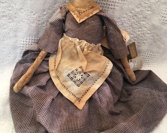 Primitive Annie Doll, Home Decor, Primitive Collectible, Prim Annie, Raggedy Doll