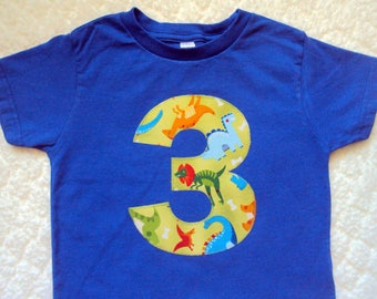 Dinosaur Birthday Shirt- Boys Dinosaur Shirt- 3 Year Old Birthday Shirt, Two Year Old shirt- Four Year old shirt- Dinousaur Shirt- 4 year