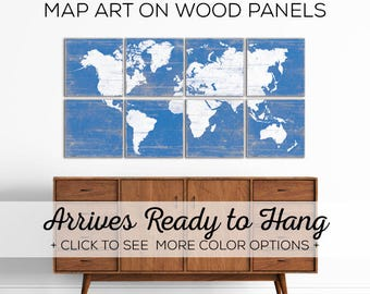 Large World Map Decor - Browse Our World Map Wall Art - Perfect for Travel Themed Nursery Decor