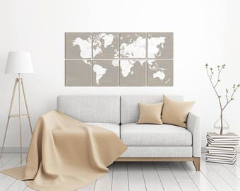 Maps of the World for Sale in a Variety of Options - The Perfect Map for Rustic Home Decor Wall Art!
